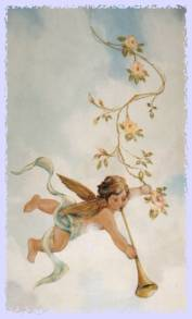 Painting of cherub